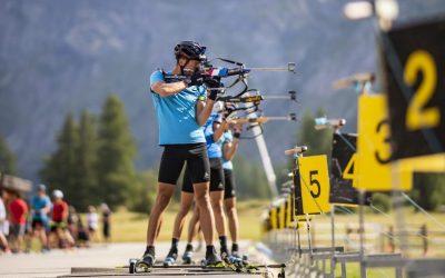 Equipes nationales et internationales de biathlon en stage à Bessans