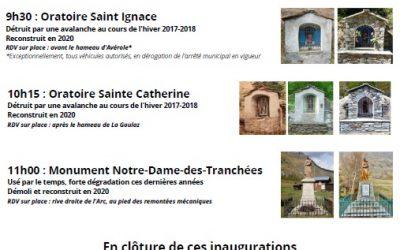 18 septembre / Inaugurations souscription patrimoine 2019